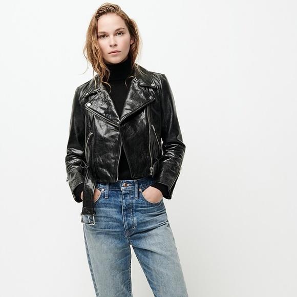 Vintage Jackets & Blazers - CLEARANCE | VTG Black Leather Moto Jacket